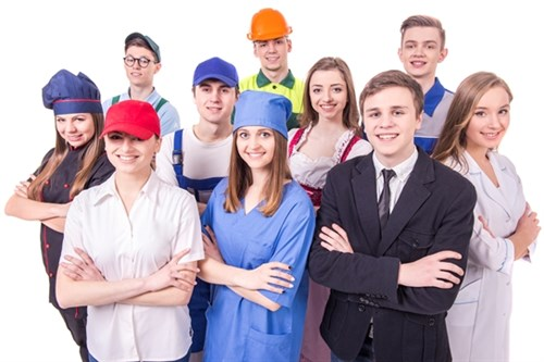 Group Of Young People Differing Careers Smaller