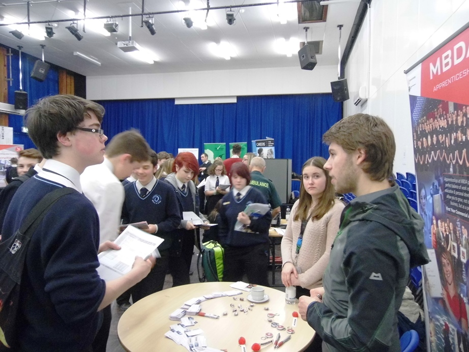 Students attending careers fair gave it top marks