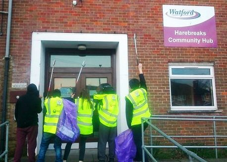 Watford Young People Clean for the Queen