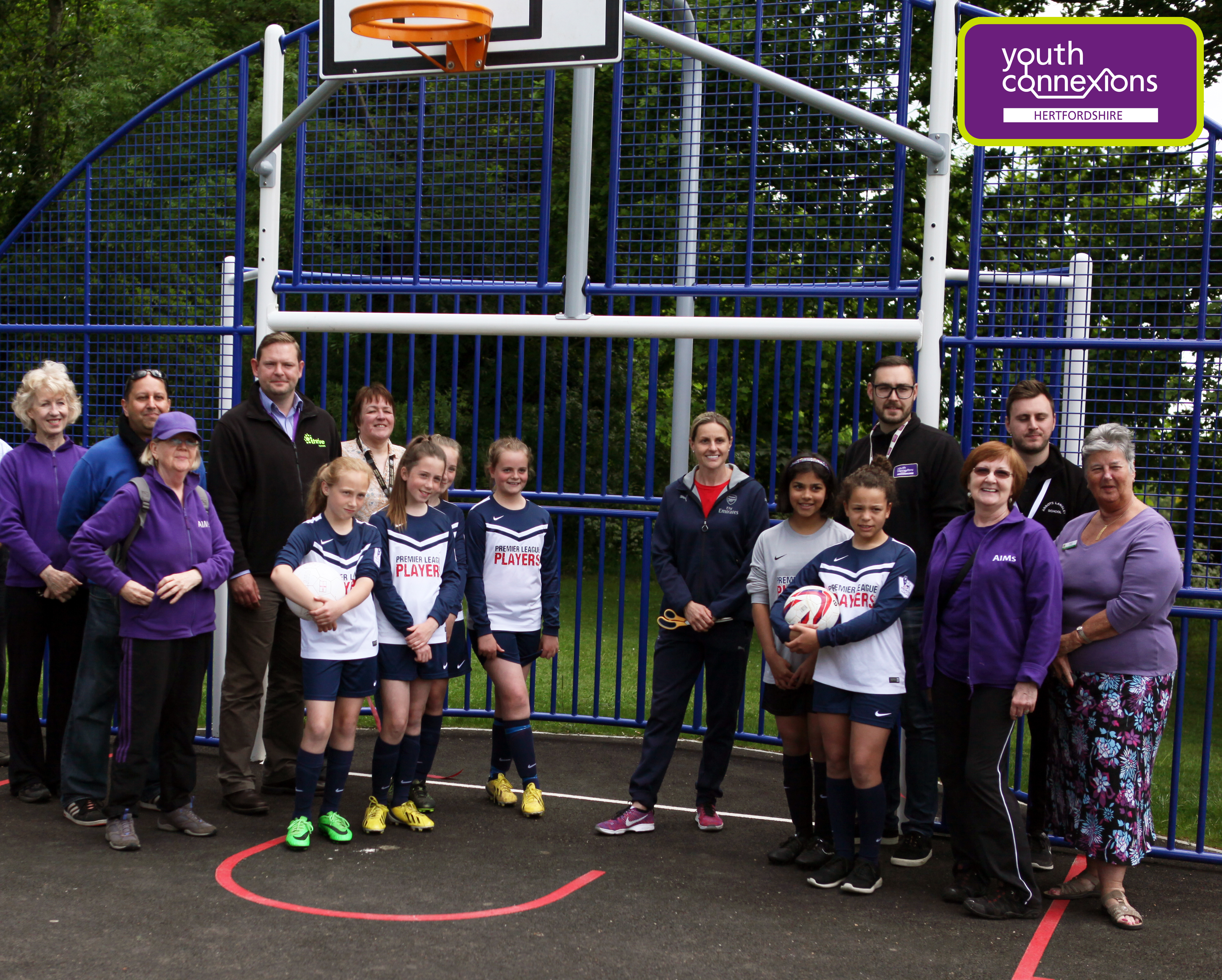 Kelly Smith MBE launches new sports facility in Abbots Langley