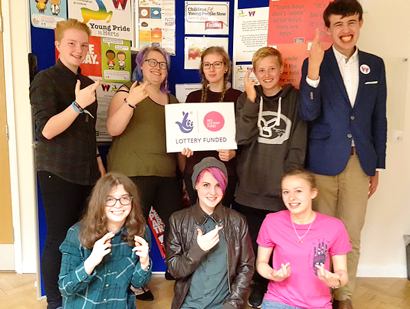 Youth Connexions secure three years funding from the Big Lottery Fund to develop young LGBT+ services and support