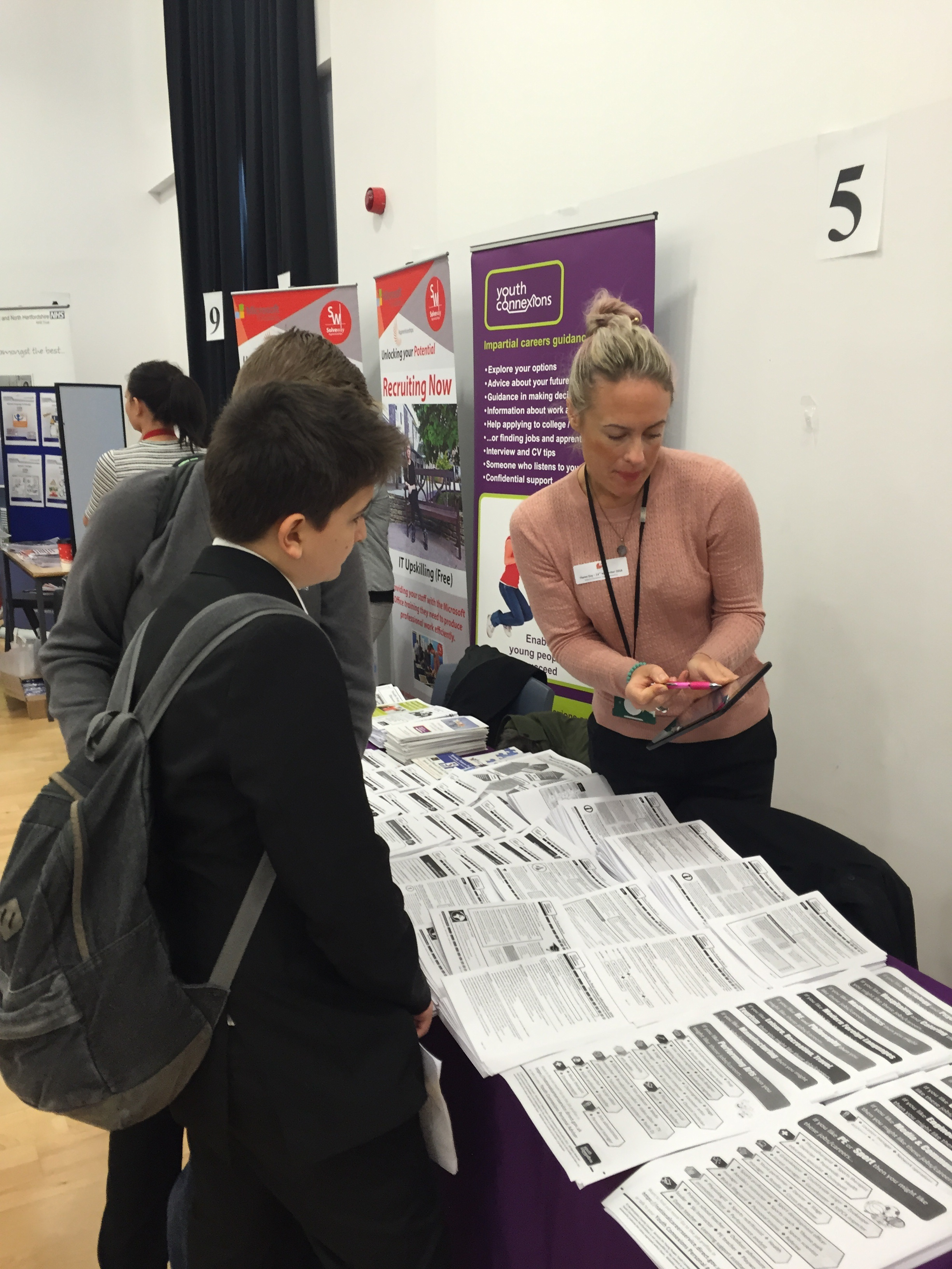 Year 9 pupils get a taste of the world of work at Marriotts Careers Day with Youth Connexions