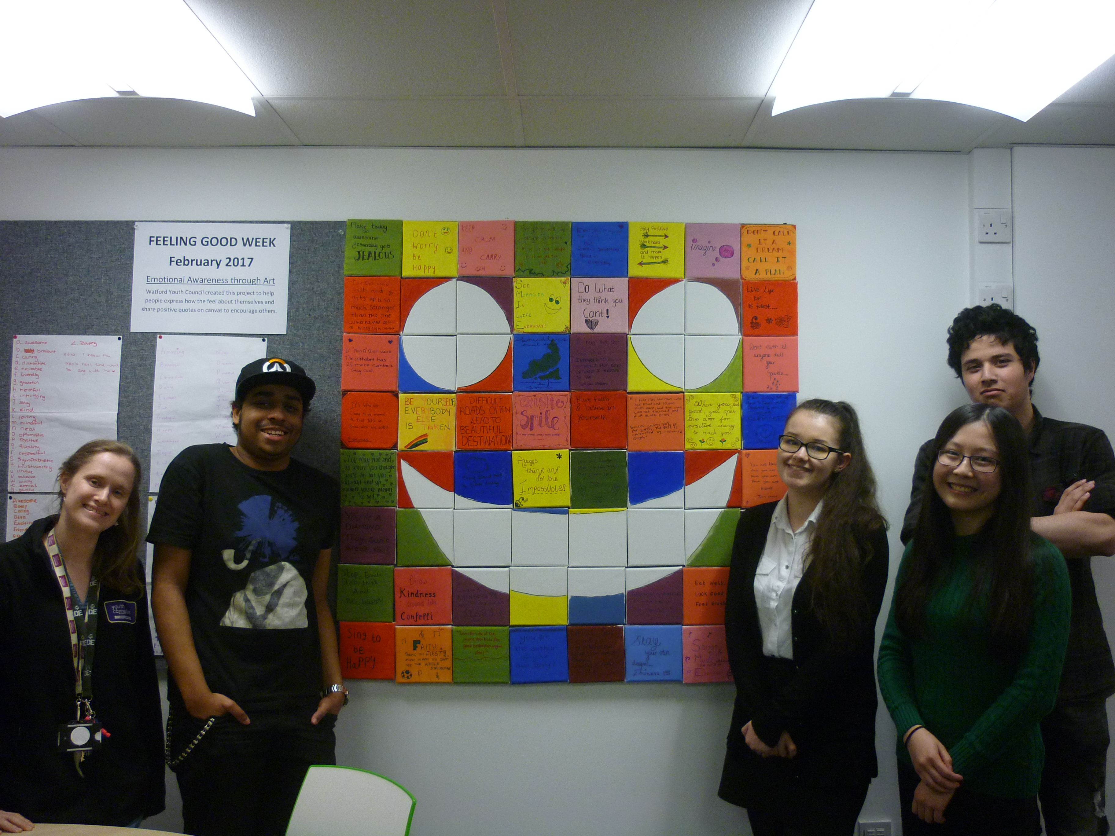 Watford Youth Council spreads Wellbeing with a Smile!