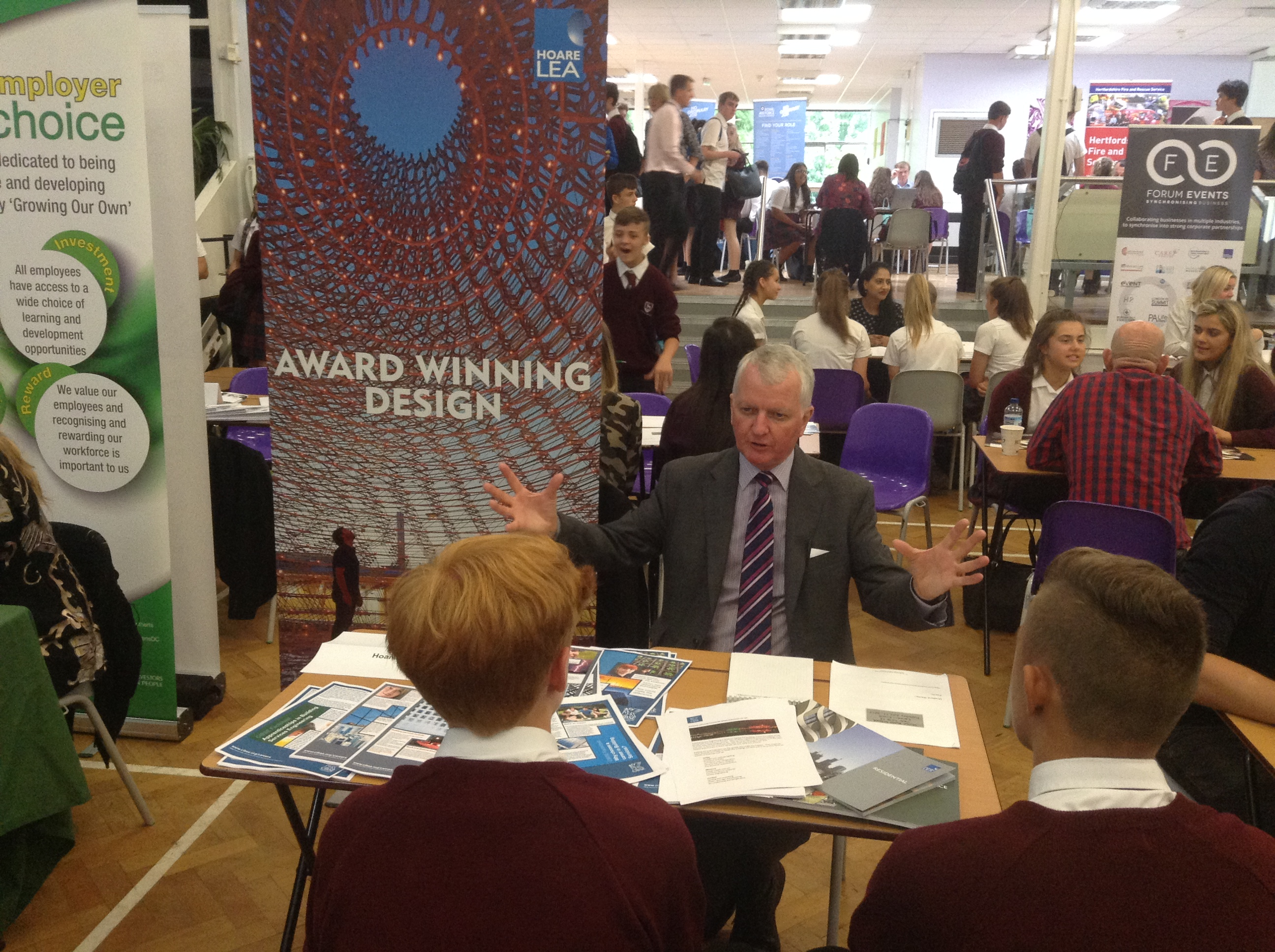 Employers and YC Hertfordshire Shape Hertfordshire's Future Workforce at Simon Balle School