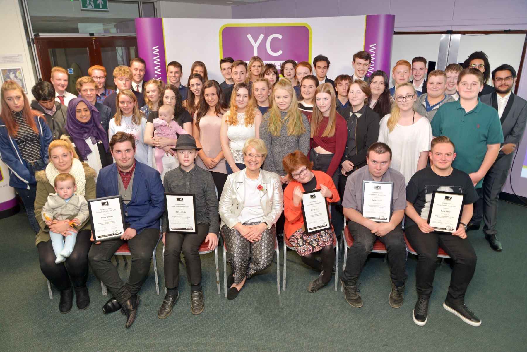 Young people recognised for their achievements by Hertfordshire County Council
