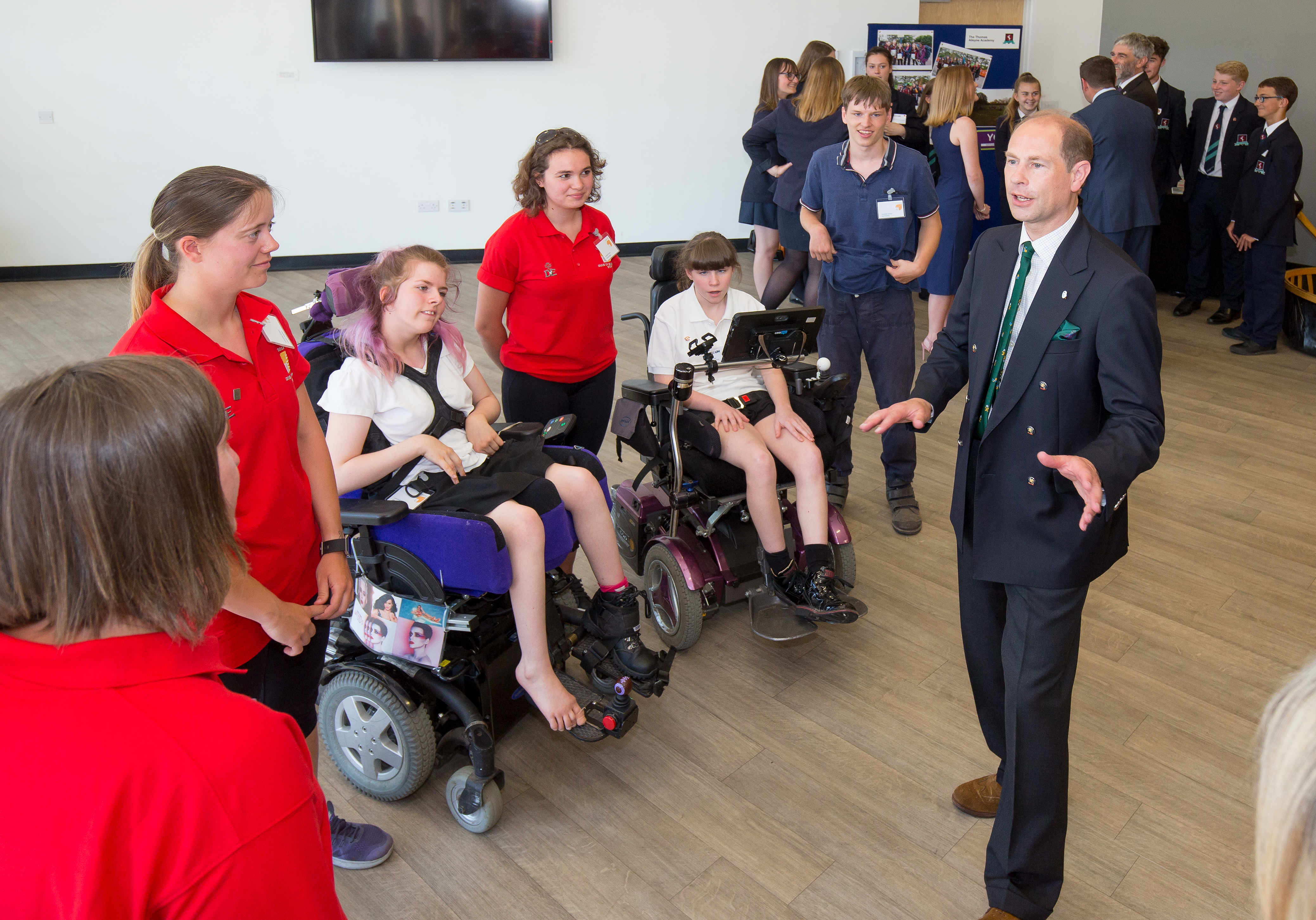 HRH The Earl of Wessex meets young people taking part in The Duke of Edinburgh's Award in Hertfordshire