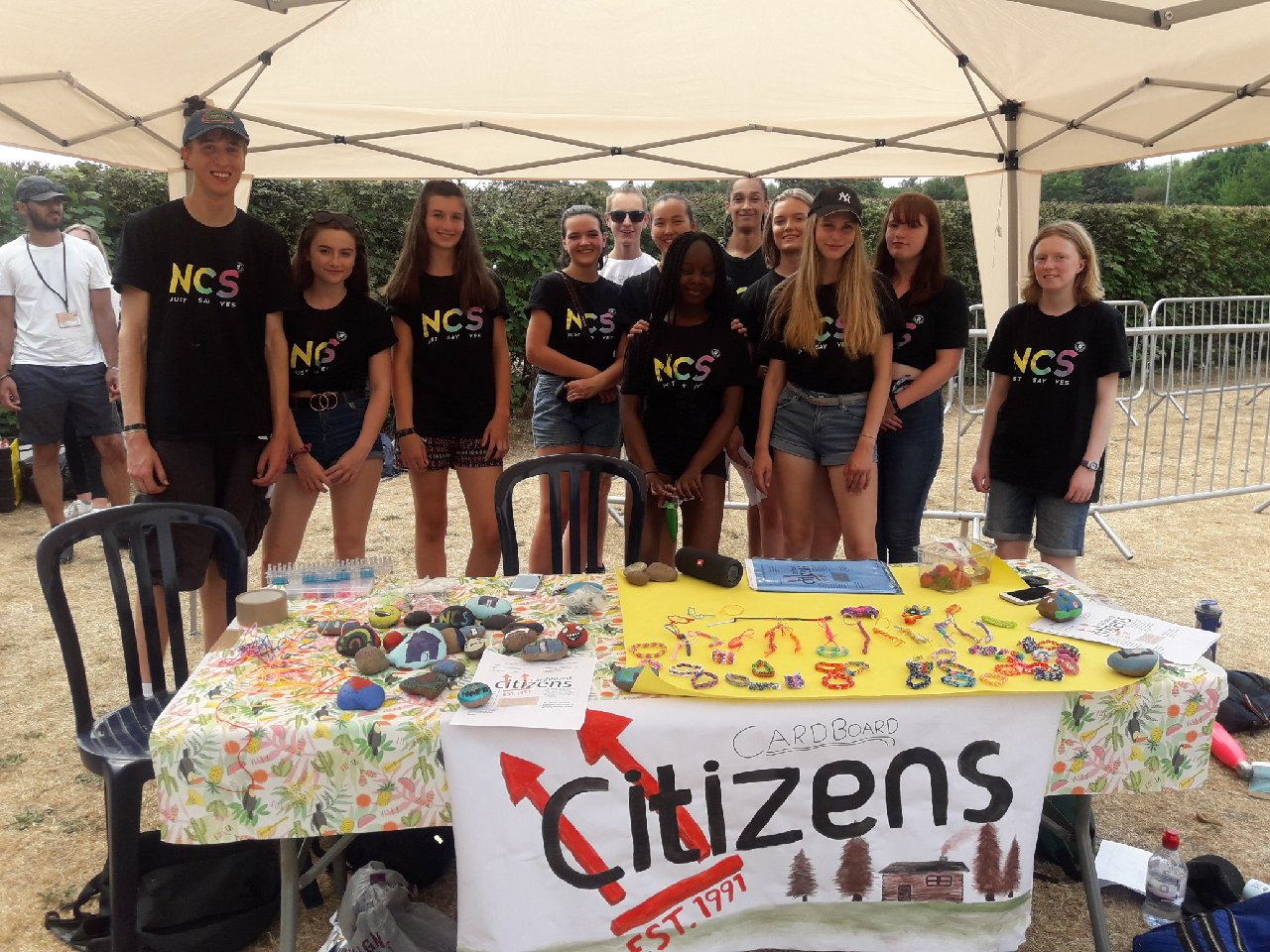Young people from St Albans and Hertsmere demonstrate their community spirit during their summer holidays with Hertfordshire County Council's youth service, YC Hertfordshire