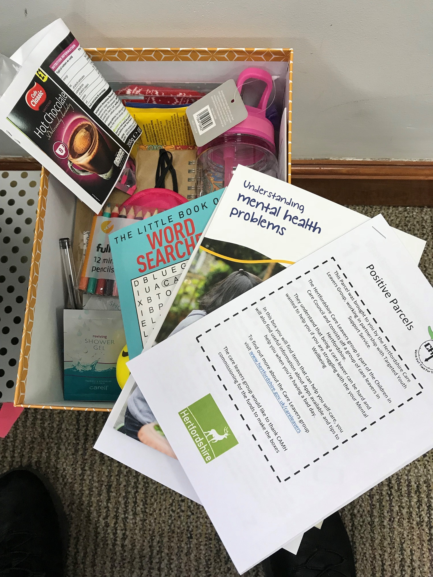 Young people benefit from wellbeing care boxes