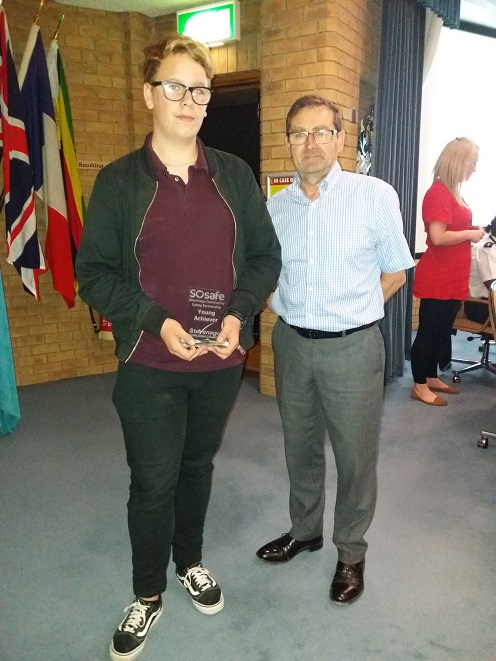 SoSafe Award for Stevenage young person