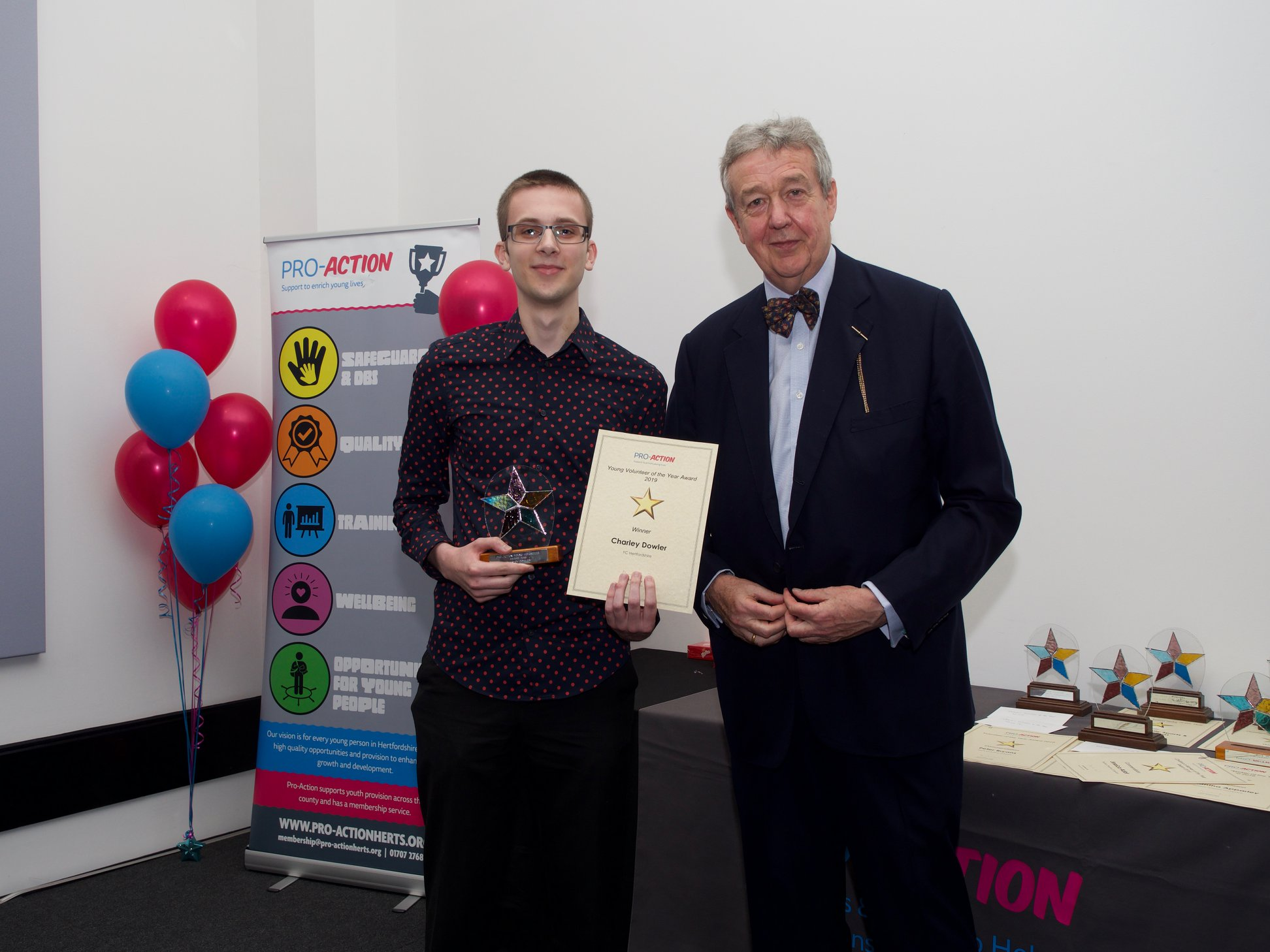 Young volunteer wins Pro Action Award